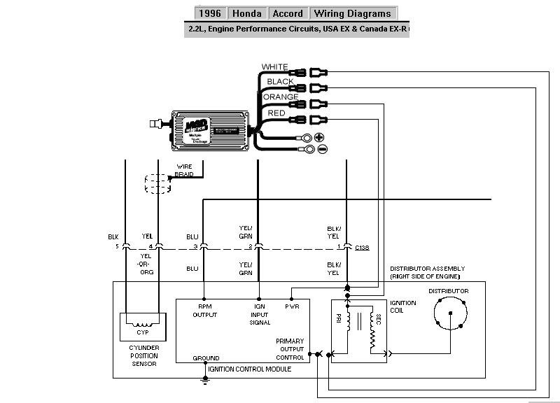 Distributor Wiring Diagram Honda : Honda accord internal coil msd