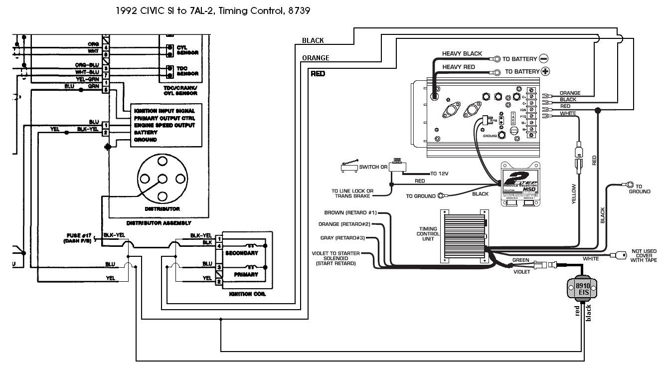 95 Honda Civic Distributor Wiring Diagram : Honda crx ignition system schematic get free image about