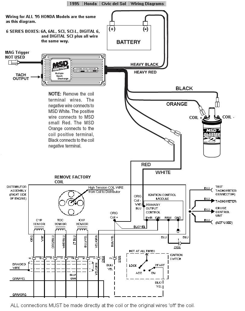 1996 Honda Civic Alternator Wiring Diagram : Integra ignition coil location get free image