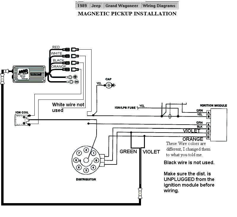 1989 jeep grand wagoneer mag pu on ignition coil wiring diagram