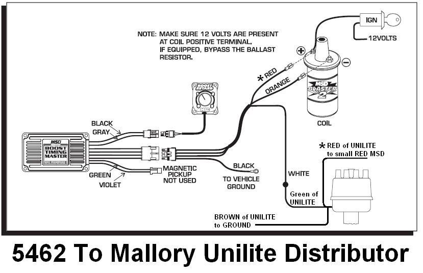 mallory ignition wiring diagram chevy 5462 to mallory unilite - msd blog
