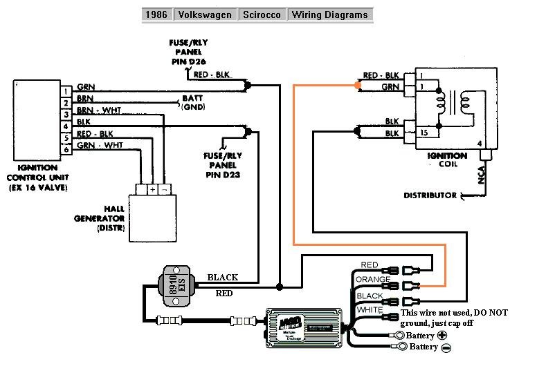 Vw Air Cooled Msd Distributor Wiring Diagram. Air Cooled Vw ... Air Cooled Vw Ignition Coil Wiring Diagram on