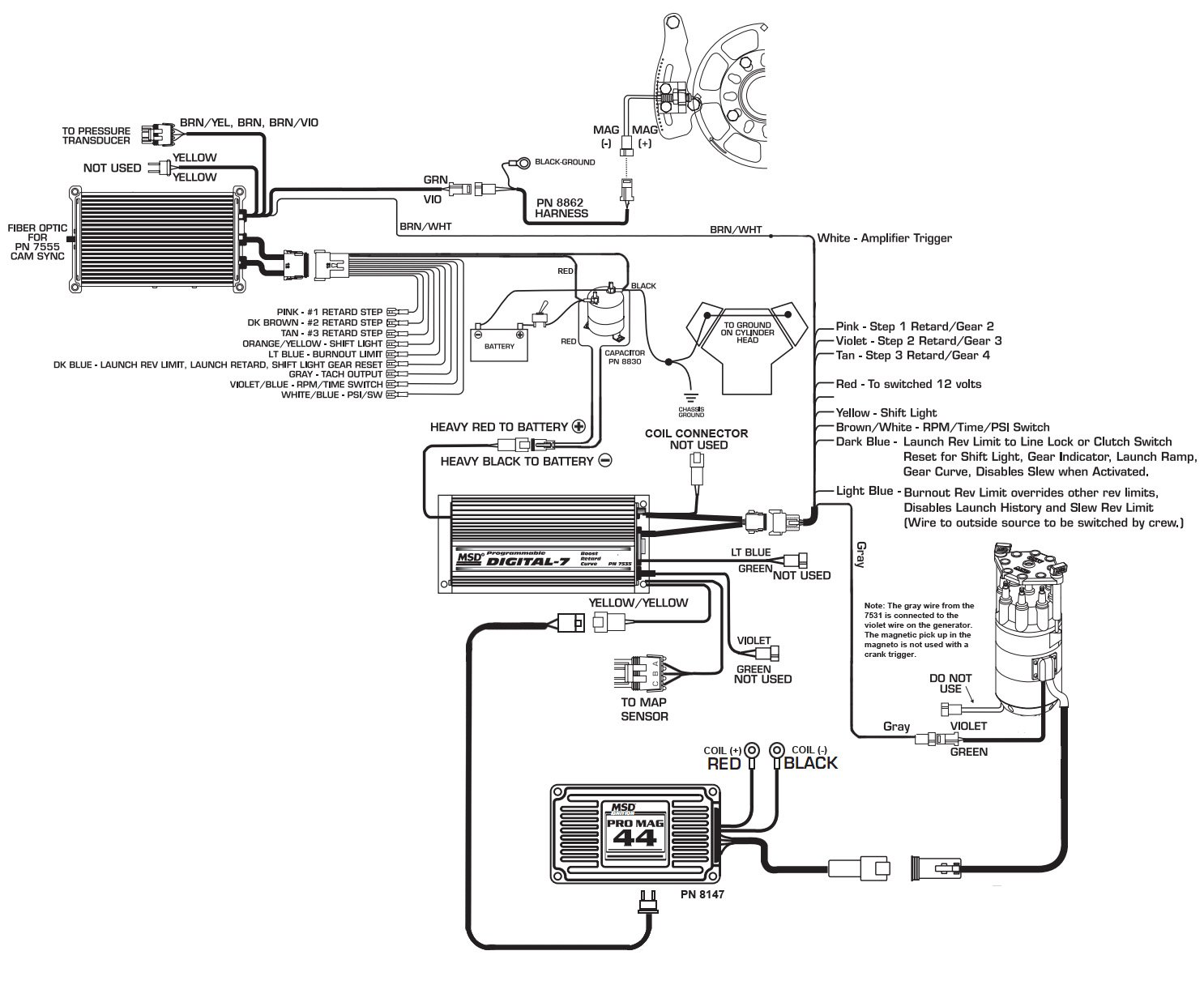 8973 to 7531 pro mag reva holley blog rh holley com MSD RPM Activated Switch Wiring Diagram MSD 6LS Wiring-Diagram