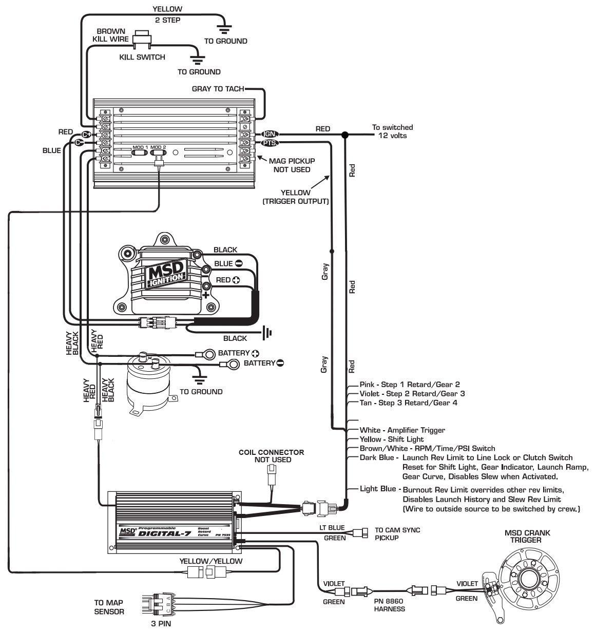 msd 6al wiring diagram hei distributor msd discover your wiring wiring a msd 7530 harness msd ignition wiring diagram