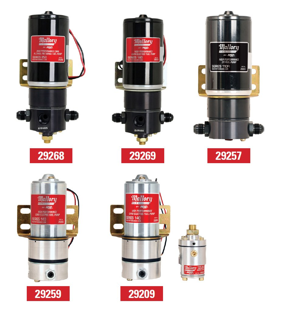 mallory carburetor fuel pumps from mallory