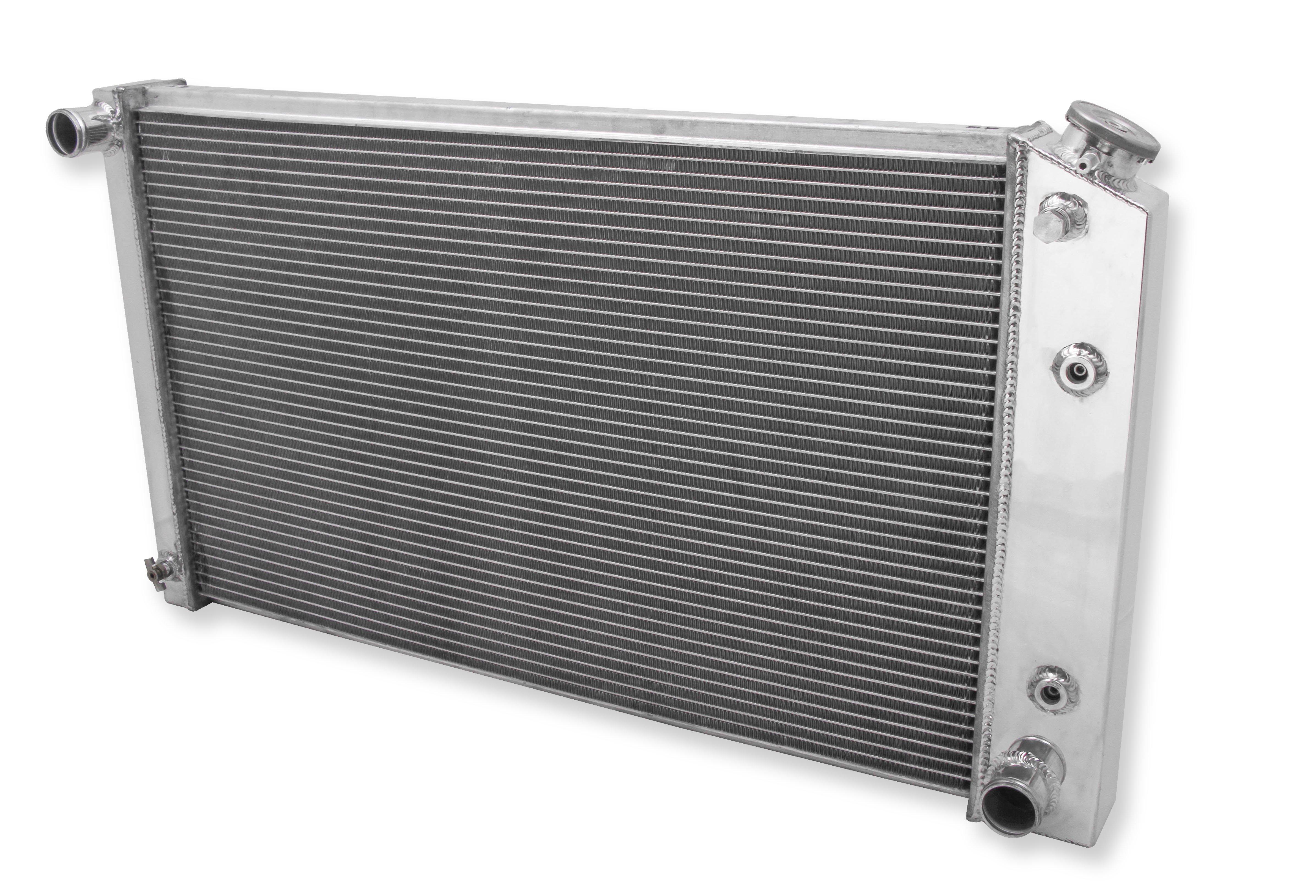 1971-1990 Chevy Caprice 2 Row Champion All Aluminum Radiator Fan Combo