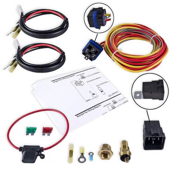 frostbite fb403 frostbite fan shroud electric relay kit rh holley com spal relay wiring kits spal relay wiring kits