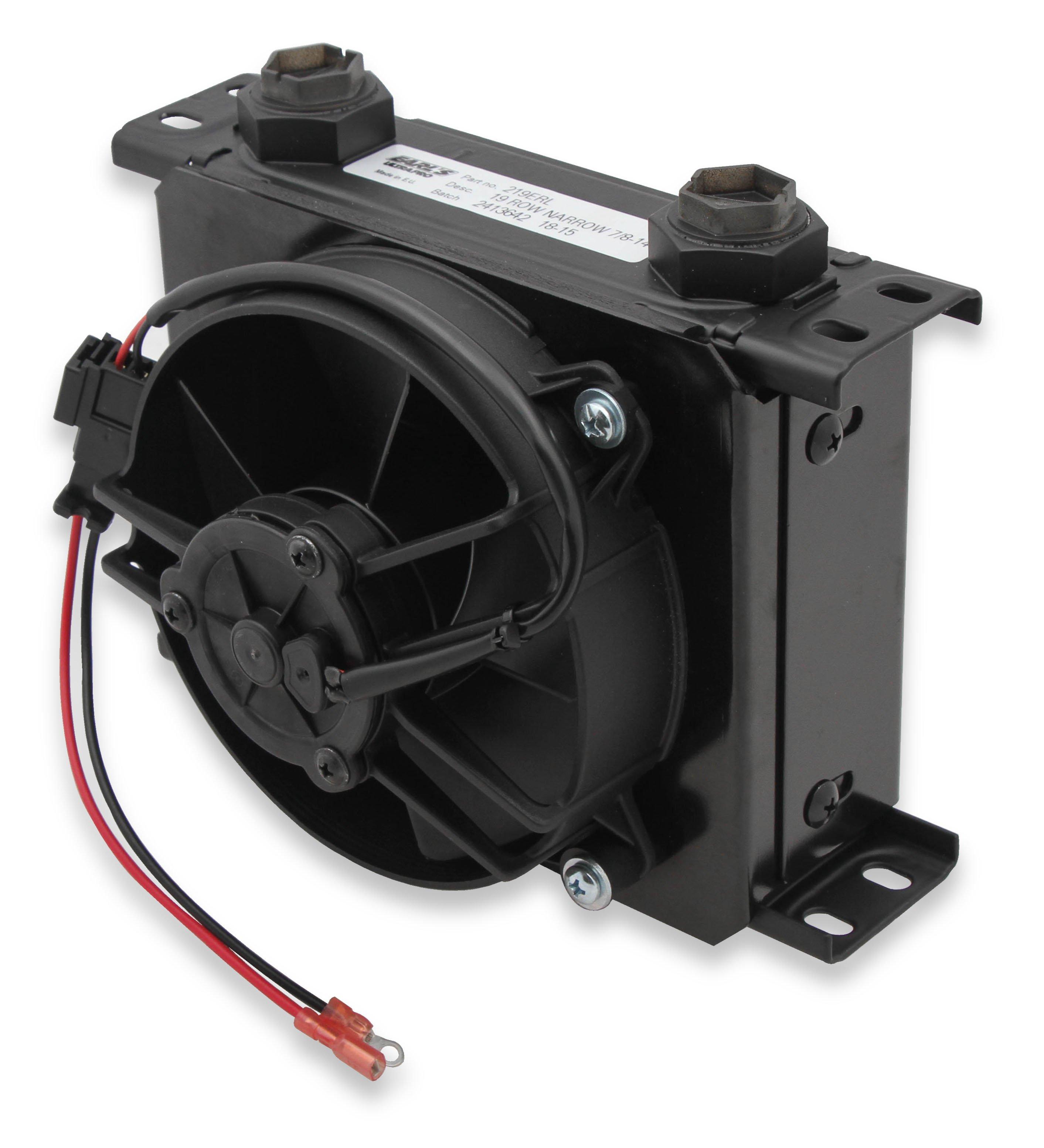 Oil Cooler Fan Wiring Diagram Library Derale Fp219erl Earls Ultrapro W Pack Black 19 Rows