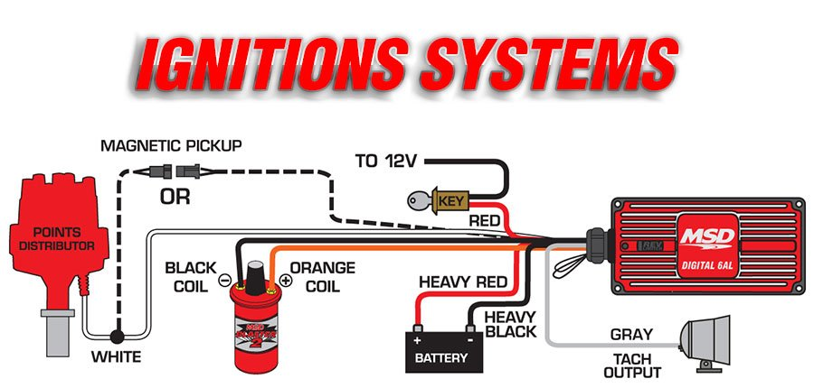 ignitions msd performance products tech support 888 258 3835 msd ignitions install easily to a variety of applications this diagram shows the wiring a points distributor
