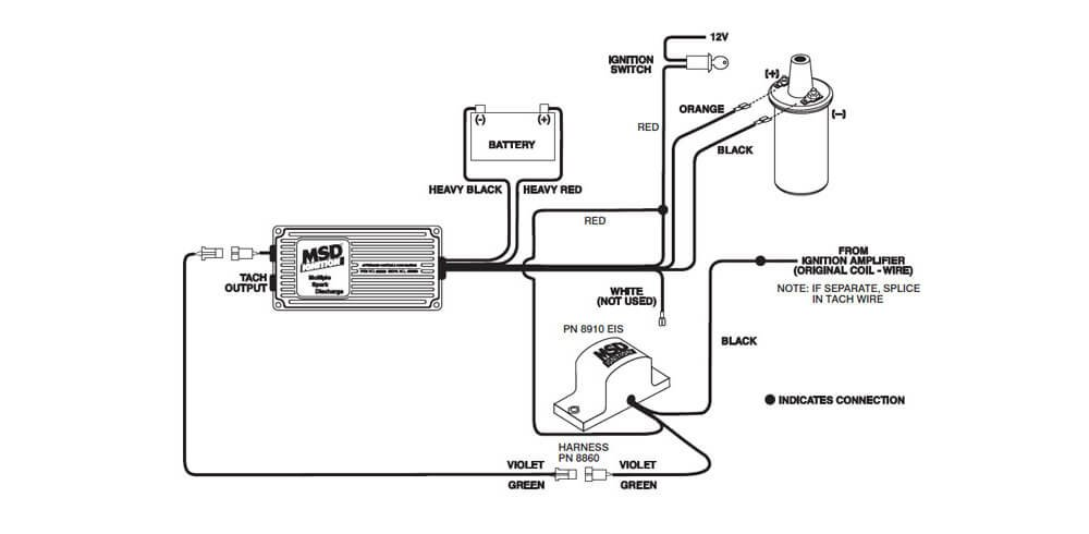 msd tech symptoms troubleshooting tehniques for msd performance MSD 6A Wiring Diagram Chevy wiring the tach adapter pn 8910 eis