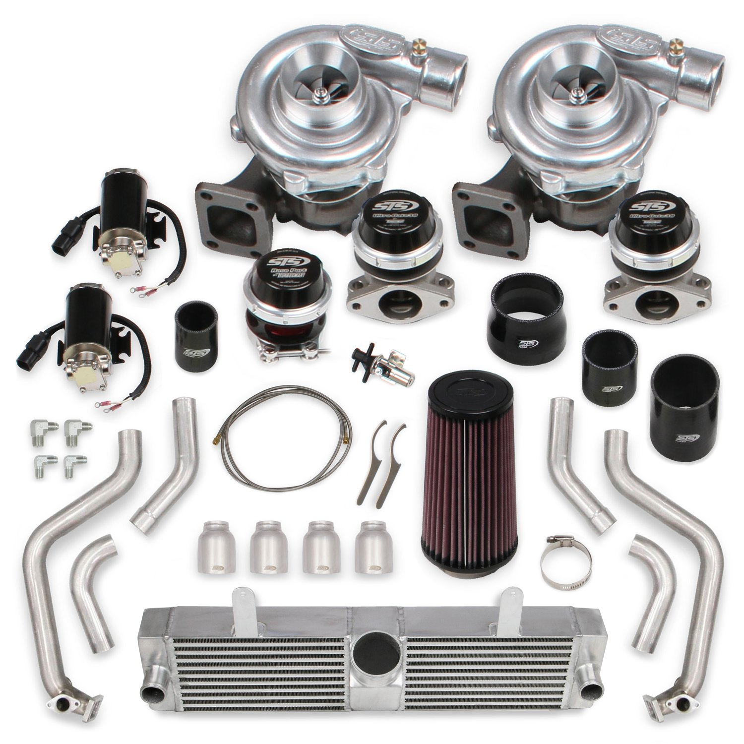 STS Turbo Remote Mounted Twin Turbo System without tuner & fuel injectors  for 2006-2013 Corvette Z06 with LS7 (Standard Kit)