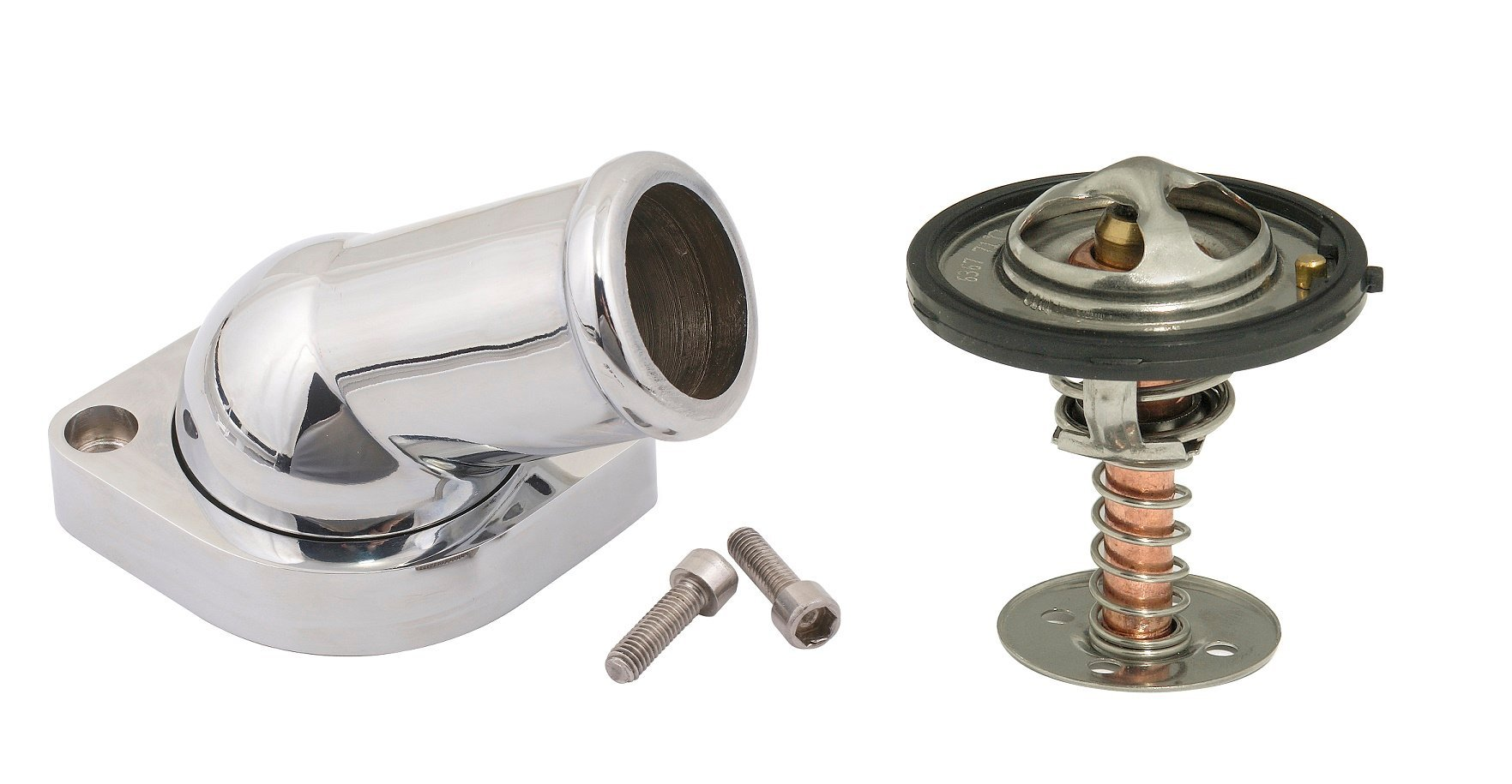 Water Neck & 160 Degree Thermostat Kit - GM LS - Swivel - 30 Degree Angle