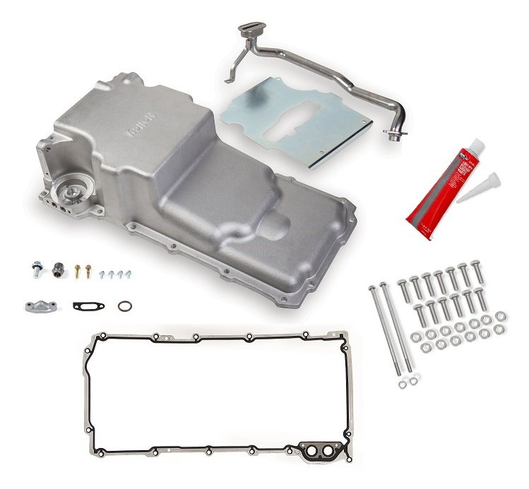 GM LS Retro-fit Oil Pan w/ Gasket & Bolts Kit - additional front clearance