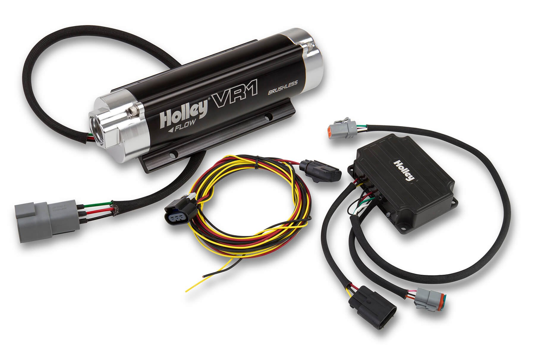 Holley 12-1500 VR1 Series Brushless Fuel Pump w/Controller on hei distributor wiring diagram, battery kill switch wiring diagram, msd distributor wiring diagram, line lock wiring diagram, electric fan wiring diagram,