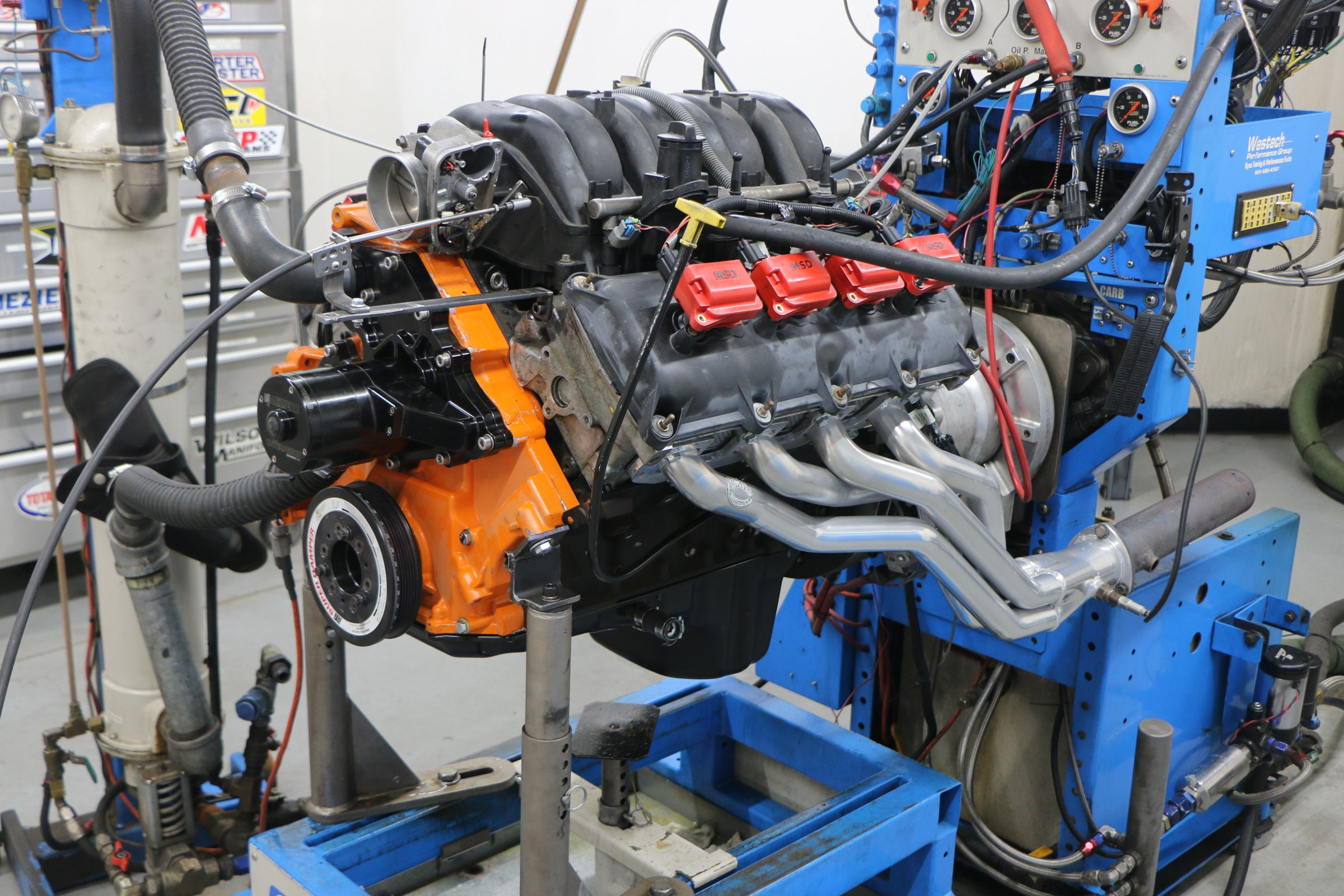 5.L Hemi header test, 1 5/8 primary tubes