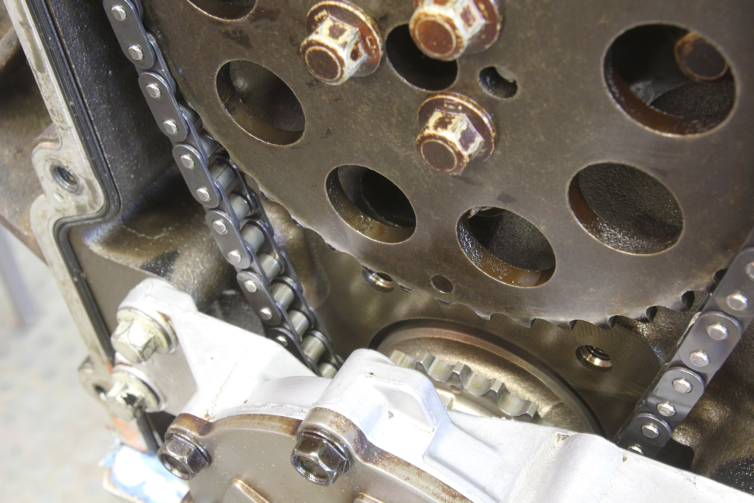 LS camshaft gear alignment