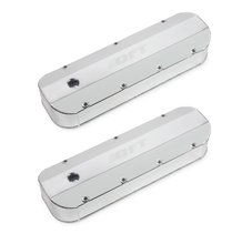 Fabricated Aluminum Valve Cover - Big Block Chevy - Silver Finish