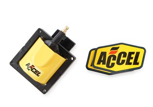 ACCEL Ignition Coil - SuperCoil - 1984-1998 Ford EEC-IV - Yellow - Individual