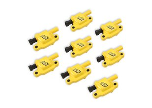 ACCEL Ignition Coils - SuperCoil GM LS2/LS3/LS7 engines, yellow, 8-pack