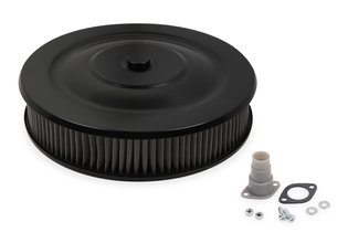 Mr. Gasket Easy Flow Air Cleaner - Flat Black Powder Coated