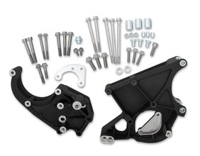 LS/LT Accessory Drive Bracket - Passenger's & Driver's Side Brackets Black
