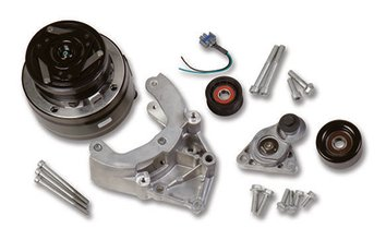 LS A/C Accessory Drive Kit - Includes R4 A/C Compressor, Tensioner, & Pulleys