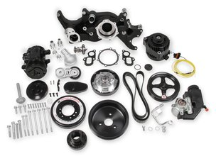 Holley Premium Black Mid-Mount Complete Accessory System for LT Engines