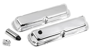 Chrome valve covers for 1986-95 302-351W (5.0L-5.8L) small block Ford engines.