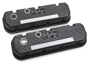 M/T Valve Covers for Big Block Chevy Engines - Satin Black