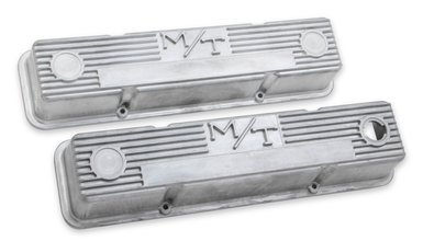 M/T Valve Covers for Small Block Chevy Engines – Natural Cast Finish