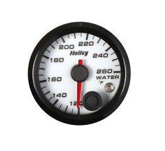 Holley Analog Style Water Temperature Gauge