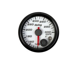 Holley Analog Style Differential Temperature Gauge