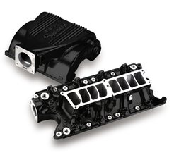 Holley SysteMAX Intake - Ford Small Block V8 - Black Ceramic Coated
