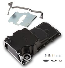 GM LS Swap Oil Pan - Carbon Black Ceramic - additional front clearance
