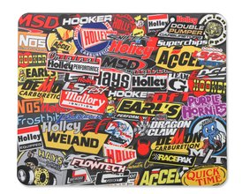 Holley MSD Sticker Bomb Style Mouse Pad