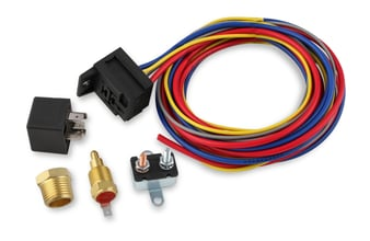 Mr. Gasket Electric Fan Harness & Relay Kit with 185 Degree Temperature Switch