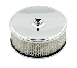 Mr. Gasket Air Filter Assembly - Chrome - 6-1/2 Inch x 2-7/16 Inch
