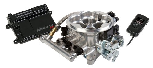 Terminator EFI 4bbl Throttle Body Fuel Injection System - Tumble Polished