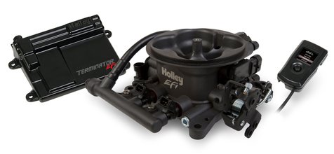 Terminator EFI 4bbl Throttle Body Fuel Injection System - Hard Core Gray
