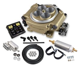 Holley Sniper EFI Self-Tuning Master Kit - Classic Gold Finish - Factory Refurbished