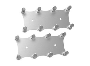 Holley EFI Igntion Coil Remote Relocation Bracket, Silver Finish, Pair