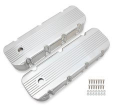 Mr. Gasket Finned Fabricated Aluminum Valve Covers - Polished