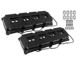 Mr. Gasket Fabricated Valve Covers - Black Finish