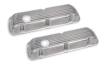 Mr. Gasket Cast Aluminum Valve Covers Pair - Polished