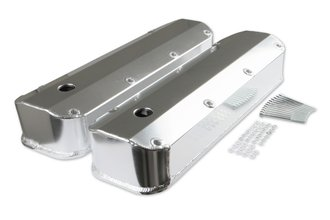Mr. Gasket Fabricated Aluminum Valve Covers - Silver Finish