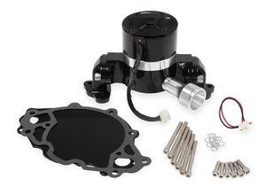 Mr. Gasket Electric Water Pump with Block Off Plate - 35 GPM - Black