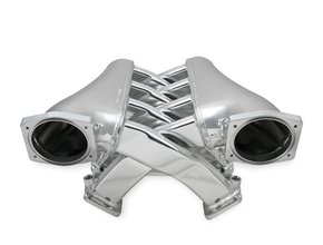 Sniper EFI Fabricated Intake Manifold Dual Plenum 102mm GM LS1/2/6, and Fuel Rail Kit - Silver