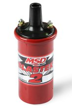 MSD Ignition Coil Blaster 2 Series (w/ballast resistor), Red, stock style ignition