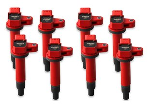 MSD Ignition Coils Blaster Series Fits 1998-2010 Toyota/Lexus 4.7L V8, Red, 8-pack