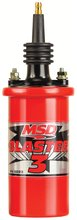 MSD Ignition Coil Blaster 3 Series (90 degree terminal/boot), Red